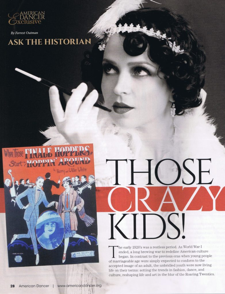 Those Crazy Kids! by Forrest Outman page 28 Jan-Feb edition of American Dancer Magazine.